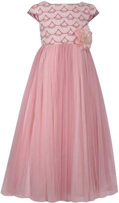 Bonnie Jean Girls 7-16 Sequin Bodice Mesh Ball Gown