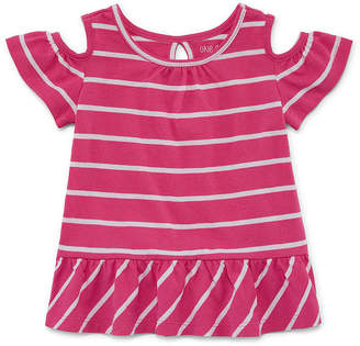 Okie Dokie Cold Shoulder Printed Tee - Baby Girl NB-24M