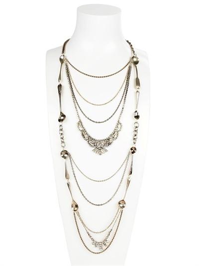 Maria Zureta Long Paste Spoon Necklace