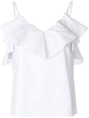 Golden Goose striped ruffled top
