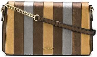 Twin-Set striped shoulder bag