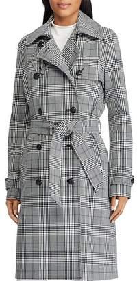 Ralph Lauren Glen Plaid Trench Coat