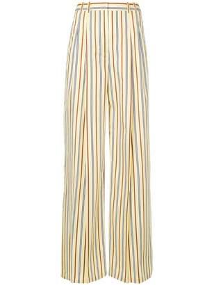Jil Sander Navy striped palazzo pants