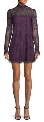LIKELY Amarella Scalloped-Trim Shift Dress