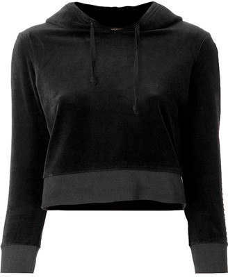 Juicy Couture cropped velvet hoodie