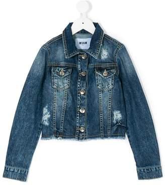 MSGM distressed denim jacket