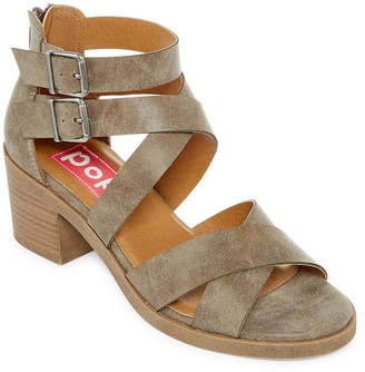 POP Nicole Womens Wedge Sandals