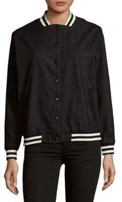 MinkPink Emotional Varsity Cotton Jacket