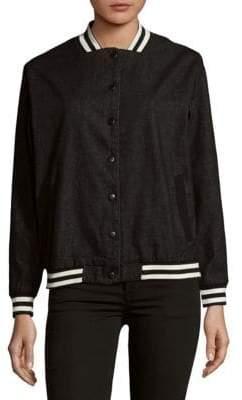 MinkPink Emotional Varsity Cotton Jacket