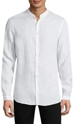 John Varvatos Garment Dyed Linen Button-Down
