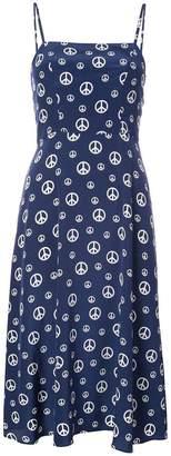 Harley Viera Newton Nora peace sign dress
