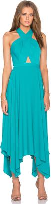 BCBGMAXAZRIA Annmarie Cross Front Maxi Dress $338 thestylecure.com