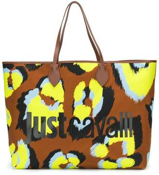 Just Cavalli oversized logo tote bag