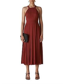 Whistles Kyra Pleated Dress