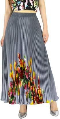 "YSJ Womens Pleated Long Maxi Skirt - 35.4"" Chiffon Floral Vintage Bohemian Full Skirts"