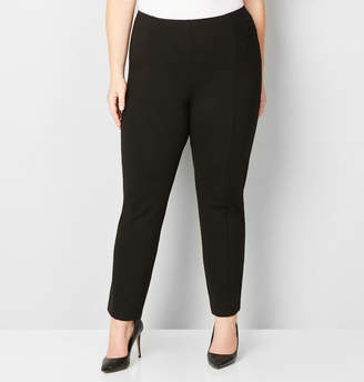 Avenue Solid Pull-On Ponte Pant with Tummy Control