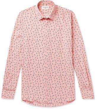 Saint Laurent Slim-Fit Printed Silk Crepe De Chine Shirt