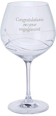 Dartington Crystal Personalised Glitz Gin and Tonic Copa (Single) Glass, 610ml, Gabriela Font