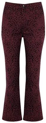 Rag & Bone Hana Flocked Cropped Jeans