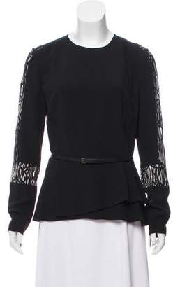 Elie Saab Cady Lace-Trimmed Top w/ Tags
