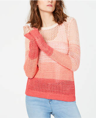 INC International Concepts I.N.C. Ombré Open-Knit Sweater, Created for Macy's
