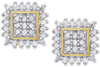 Townsend Victoria Diamond Square Stud Earrings (1/2 ct. t.w.) in Sterling Silver or 18k Gold-Plated Sterling Silver