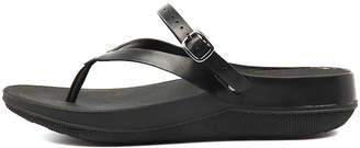 FitFlop Flip sandal Black Sandals Womens Shoes Casual Sandals-flat Sandals