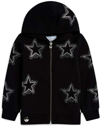 Philipp Plein Star-Embellished Zip-Up Hoodie