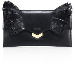 Jimmy ChooJimmy Choo Isabella Ruffled Leather Flap Clutch
