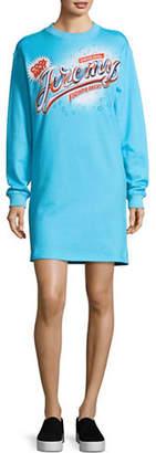 Jeremy Scott Side Slit Sweater Dress