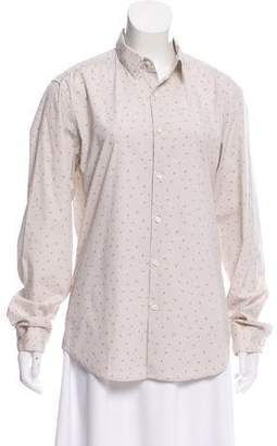 Theory Long Sleeve Button-Up Top