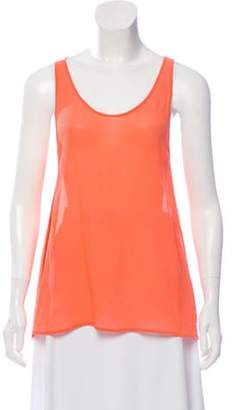 Stella McCartney Sheer Silk Top Neon Sheer Silk Top