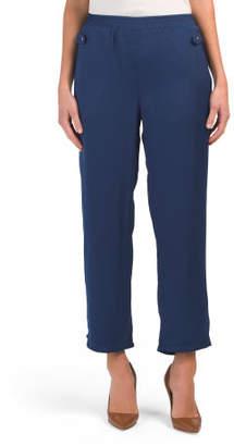 Juniors Elastic Waist Pants