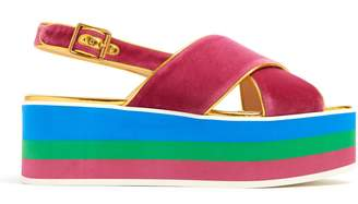 Gucci Peggy velvet platform sandals