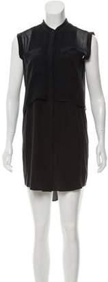 The Kooples Sport Silk High-Low Mini Dress