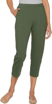 Denim & Co. Active Petite French Terry Crop Pants