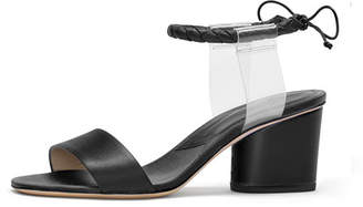 Paul Andrew Estes Braided Ankle-Strap Illusion Sandal