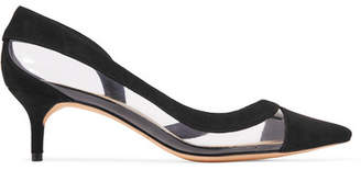 Alexandre Birman Wavee Two-tone Pvc And Suede Pumps