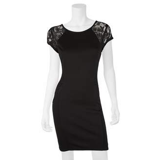 Iz Byer Juniors' Lace Bodycon Dress