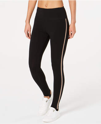 Calvin Klein High-Waist Metallic-Stripe Leggings