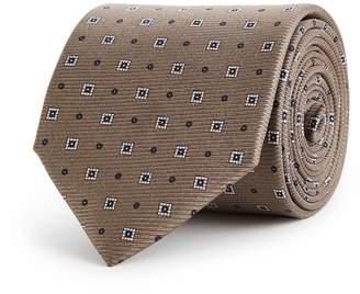 Reiss Grant - Silk Tie in Mushroom