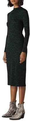 Whistles Leopard-Print Jersey Dress