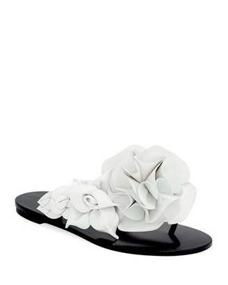 White flower sandals shopstyle sophia webster jumbo lilico flower flat slide sandal mightylinksfo