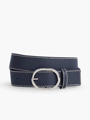 Talbots Womans Exclusive Pebble Leather Belt