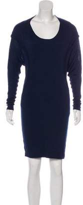 Donna Karan Scoop Neck Long Sleeve Dress