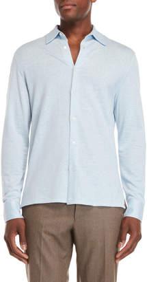 Luciano Barbera Light Blue Long Sleeve Polo
