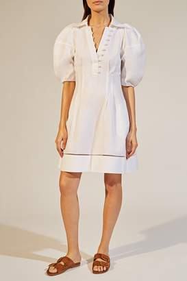 KHAITE The Carlina Dress in White