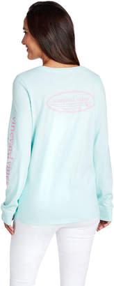 Vineyard Vines Long-Sleeve Outlined Surfboard Logo Pocket Tee