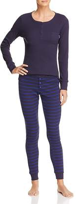 Calvin Klein Minimal Stripe Long Sleeve PJ Set