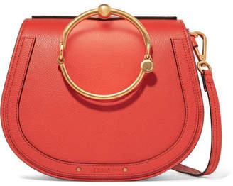 Chloé Nile Bracelet Leather And Suede Shoulder Bag - Red